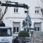 Ciudad Real: Retirada la estatua de Cervantes