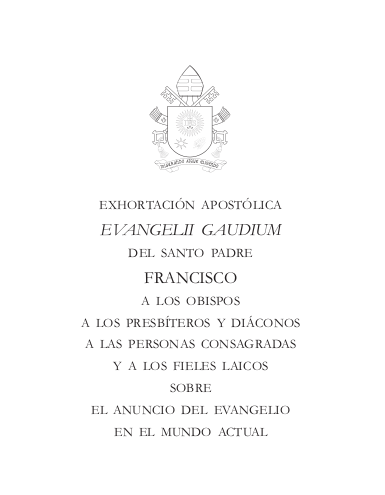 Documento pontificio (2013)