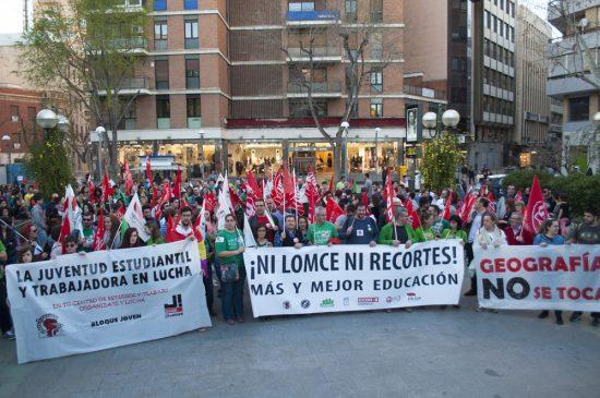 Manifestación huelga de educación 11