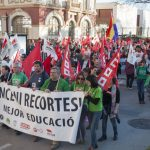 Manifestación huelga de educación 2