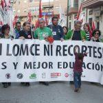 Manifestación huelga de educación 7