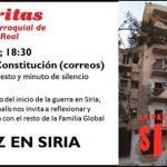 Comunicado de Cáritas: El 15 de marzo se cumplen seis años del conflicto armado en Siria