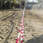 Ciudad Real: Mantenimiento mejora el drenaje del campo de fútbol de Las Casas