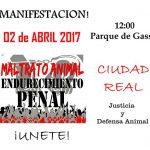 Ciudad Real se suma este domingo a las manifestaciones contra el maltrato animal