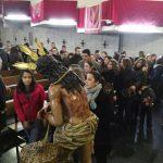La capilla del Colegio San José acoge la imagen de Nuestro Padre Jesús de la Bondad de la Cofradía de la Flagelación