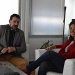 Pilar Zamora se reúne con el presidente de la Asociación de Cofradías Francisco Turrillo