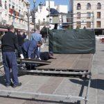 Cambio de planes: Vuelven a la Plaza Mayor las plataformas para el público de las procesiones