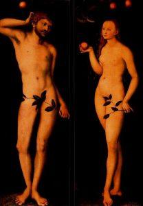1528 CRANACH ADAN Y EVA