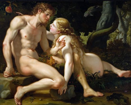 Adam and eve by Antonio Molinari (1701-1704)