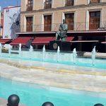 La fuente de la Plaza Mayor de Ciudad Real vuelve a lucir después de las obras de reparación