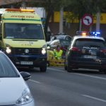 Trasladado al Hospital un motorista tras sufrir un accidente en la Ronda de Ciruela