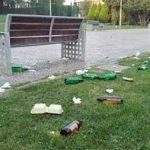 Ciudad Real: Paisaje tras el botellón en el Torreón
