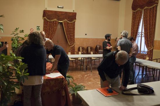 Algunos participantes del Consejo al finalizar la reunión