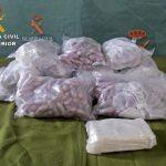 La Guardia Civil detiene a dos personas en la autovía de Andalucíapor tráfico de drogas