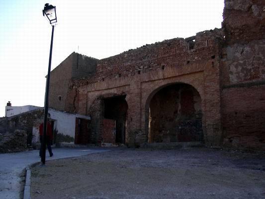Una foto de la situación actual del Castillo Palacio del Duque de Híjar