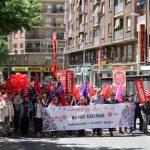 """Puertollano: Los sindicatos celebran el Primero Mayo reclamando el """"reparto de la riqueza"""" para los trabajadores"""