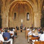 La 'Palabra de Dios' resonó en el Sacro Convento y Castillo de Calatrava la Nueva durante el encuentro de poetas organizado por el Grupo Oretania