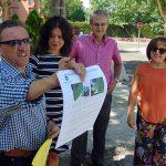 Pilar Zamora visita las obras del itinerario peatonal accesible de la calle Caracola