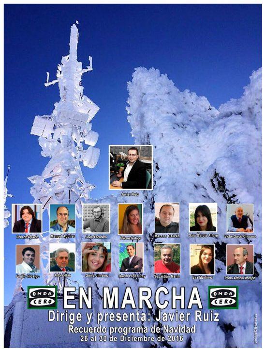 Cartel En Marcha NAVIDAD 2016 con 14 colaboradores