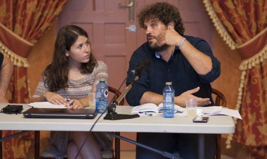 Teresa Castillo y Francisco Trillo, miembros de la Mesa de Coordinación de Ganemos