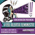 Jornada de protestas y encierro en el Ayuntamiento de Ciudad Real contra la violencia machista