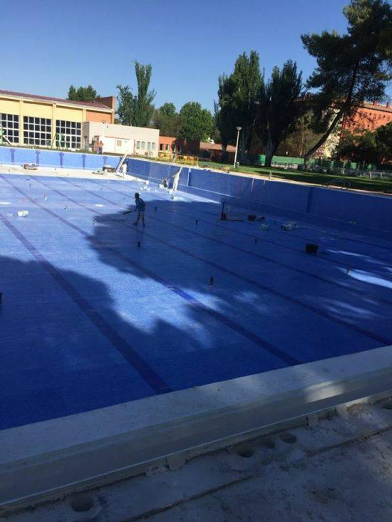 Avanzan las obras de la piscina del rey juan carlos for Piscina arganda del rey
