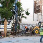 La primera fase de la obra de Plaza Cervantes finalizará en septiembre
