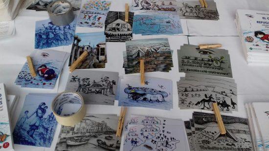 postales refugiado
