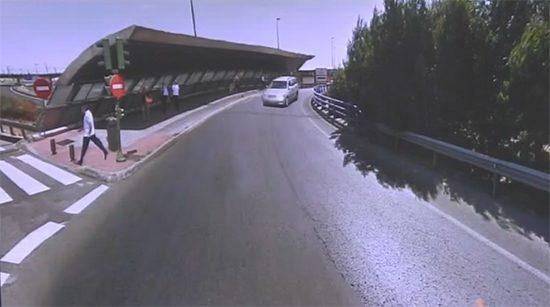 Proyecto similar de paso peatonal en una rotonda de Madrid