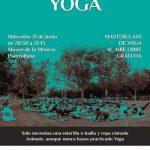 Puertollano: El centro Ishvara celebra este miércoles una master class gratuita de yoga al aire libre