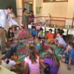 Bolaños: Valverde visita la escuela de verano que apuesta por metodologías innovadoras para el aprendizaje