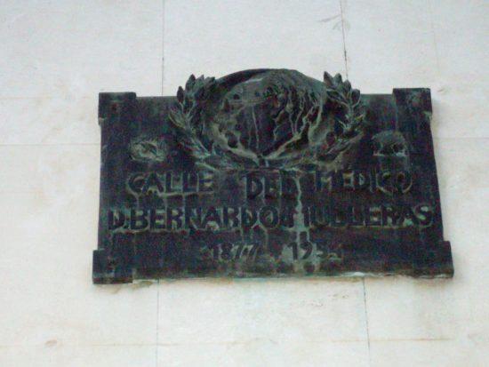 Rótulo de la Calle de Bernardo Mulleras en Ciudad Real