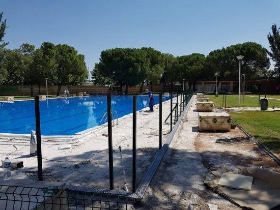 Obras en la piscina del Rey Juan Carlos