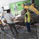 Ciudad Real: Rotura de una tubería en la Plaza Cervantes