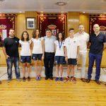 El alcalde recibe al CN Daimiel tras sus logros en los campeonatos de España alevín e infantil