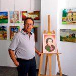 """""""Las calles de Terrinches"""", la primera exposición del pintor local José Cabrera ya cuelga en el aula de la UP"""