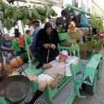 La despedida del párroco o las tumbas visigodas en el concurso de carrozas de las Fiestas de Villamayor de Calatrava