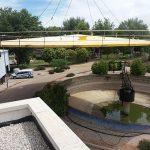 Aguas de Alcázar renueva una cubierta de 28 toneladas de la depuradora