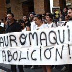 Miguelturra: Más de medio centenar de personas reclaman la abolición de la tauromaquia