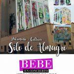La cantante Bebe pondrá este viernes la nota musical a la inauguración de la pintura mural e iluminación del Silo de Almagro