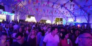 Caseta instalada en las fiestas de septiembre de 2017