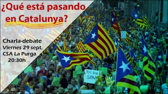 concentracion pueblo catalan charla