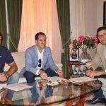 García Navas trata con Caballero las inversiones de la Diputación en Herencia