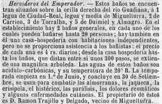 En 1865 ya hay dos baños (Guía del bañista en España para 1865)