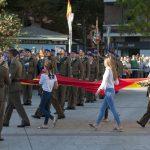 La situación en Cataluña ondea en el homenaje a la bandera celebrado en Ciudad Real
