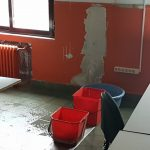 Goteras en la Escuela de Arte
