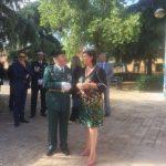 La alcaldesa de Puertollanoacompaña a la Guardia Civil en la festividad del Día del Pilar