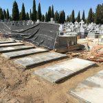 Muéranse tranquilos que ya tenemos tumbas de obra en el Cementerio