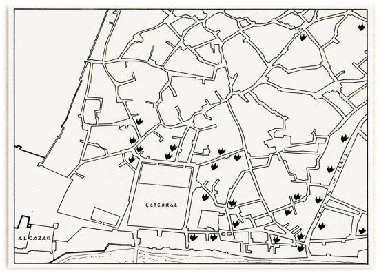 Plano de la Córdoba de los tumultos anticonversos de 1473