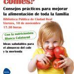'¿Sabes lo que comes?', charla de la nutricionista Blanca Calatayud en la biblioteca de Ciudad Real